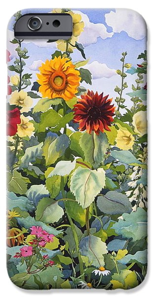 Hollyhock iPhone Cases - Untitled iPhone Case by Christopher Ryland