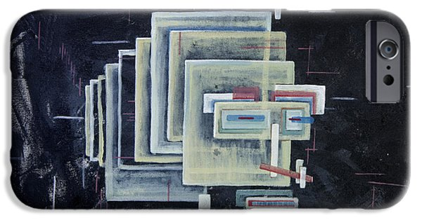 Diagram Paintings iPhone Cases - Untitled II iPhone Case by Mark  Blome