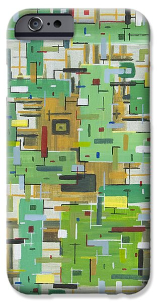 Circuit Paintings iPhone Cases - Untitled  iPhone Case by Mark  Blome