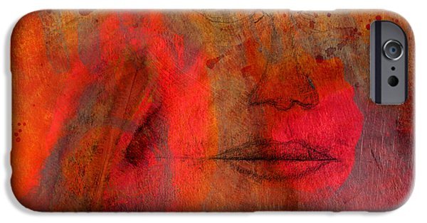 Dave Mixed Media iPhone Cases - Untitled Mixed Media No. 1 iPhone Case by David Gordon