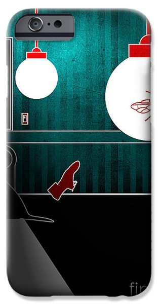 Dogs Digital iPhone Cases - Untitled No.08 iPhone Case by Caio Caldas