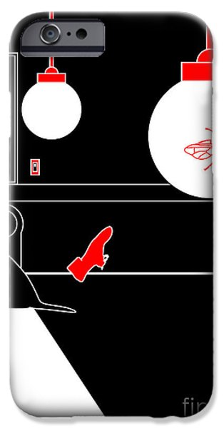 Dogs Digital iPhone Cases - Untitled No.09 iPhone Case by Caio Caldas