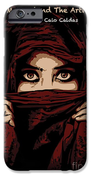 Red Eye iPhone Cases - Untitled No.14 iPhone Case by Caio Caldas