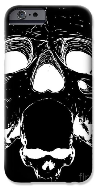Bone iPhone Cases - Untitled No.21 iPhone Case by Caio Caldas