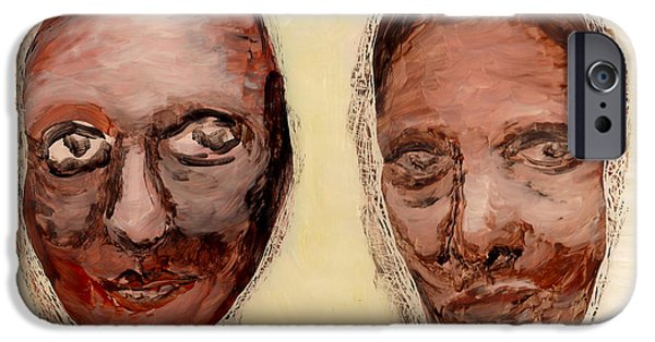 Sheets Glass Art iPhone Cases - Untitled Two iPhone Case by Anna Skaradzinska