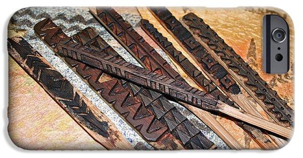 Tribal Tapestries - Textiles iPhone Cases - Unum e Pluribus Unum iPhone Case by Dalani Tanahy