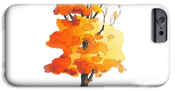 Autumn Trees iPhone Cases - Unveiling iPhone Case by Christine Camp