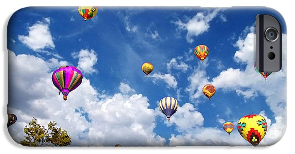 Hot Air Balloon iPhone Cases - Up and Away - Hot Air Balloons iPhone Case by Glenn McCarthy Art and Photography