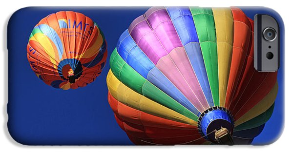 Hot Air Balloon iPhone Cases - Up and Away in Reno 2 iPhone Case by Donna Kennedy