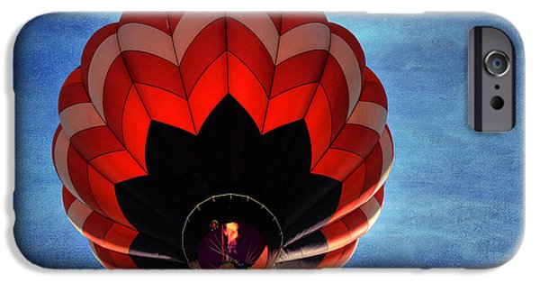 Hot Air Balloon iPhone Cases - Up and Away in Reno iPhone Case by Donna Kennedy