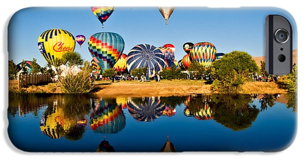 Freedom iPhone Cases - Balloons iPhone Case by Maria Coulson