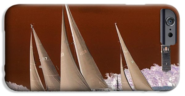 Sailing iPhone Cases - Up Close And Personal iPhone Case by Dave Lahn
