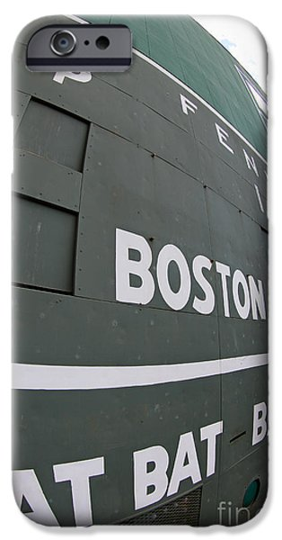 Fenway Park iPhone Cases - Up Close and Personal to the Green Monster iPhone Case by Bryan Maransky