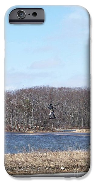 Kite Boarding iPhone Cases - Up iPhone Case by Eunice Miller