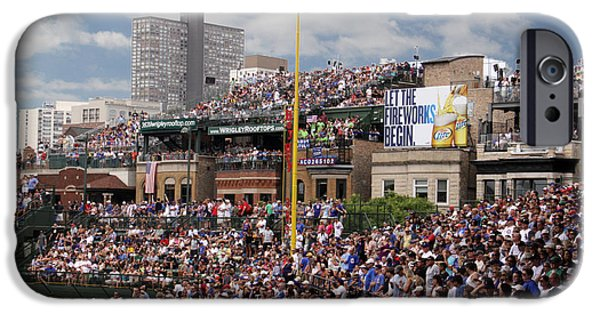 Wrigley Field iPhone Cases - Up on the Roof iPhone Case by Paul Anderson