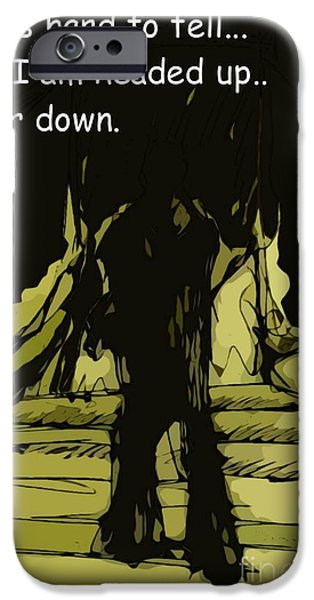 Figure iPhone Cases - Up or Down iPhone Case by John Malone