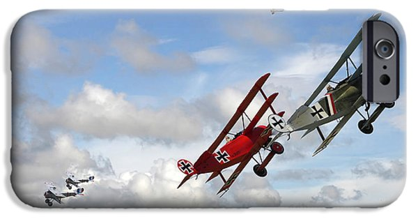 Fokker D V11 iPhone Cases - Up Sun iPhone Case by Pat Speirs