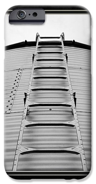 Matting iPhone Cases - Up The Silo We Go iPhone Case by Charles Feagans