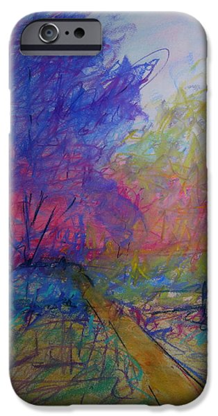 Poetic Pastels iPhone Cases - Up the Yellow Brick Road iPhone Case by Mary Ellen Bitner