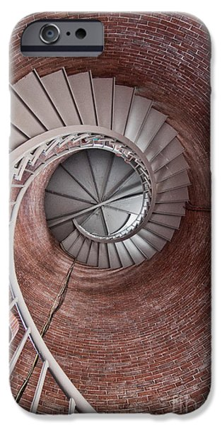 Constitution iPhone Cases - Up Through The Spiral Staircase iPhone Case by K Hines