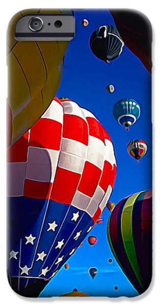 Hot Air Balloon iPhone Cases - Up Up and Away 2 iPhone Case by Bill Caldwell -        ABeautifulSky Photography