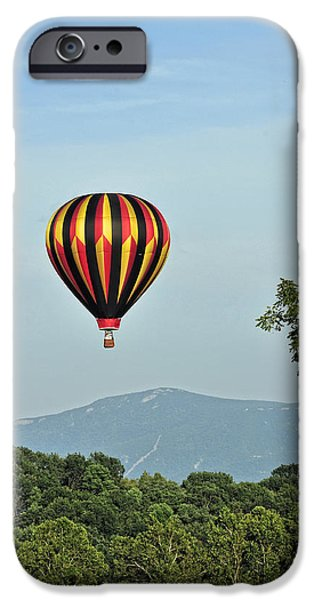Hot Air Balloon iPhone Cases - Up Up And Away 3 iPhone Case by Lara Ellis