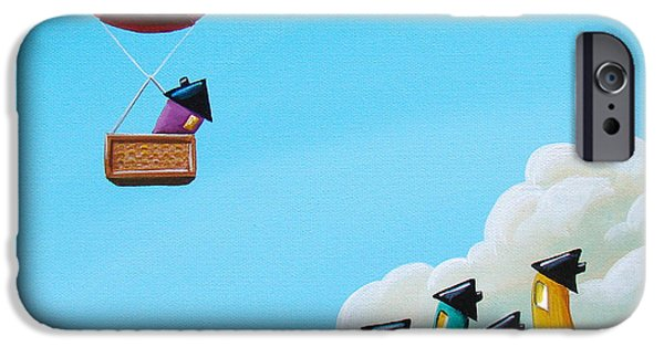 House iPhone Cases - Up Up and Away iPhone Case by Cindy Thornton