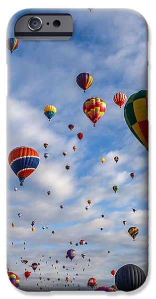 Sw New Mexico iPhone Cases - Up Up And Away D0220 iPhone Case by Wes and Dotty Weber