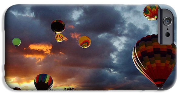 Hot Air Balloon iPhone Cases - Up Up and Away - Hot Air Balloons iPhone Case by Glenn McCarthy