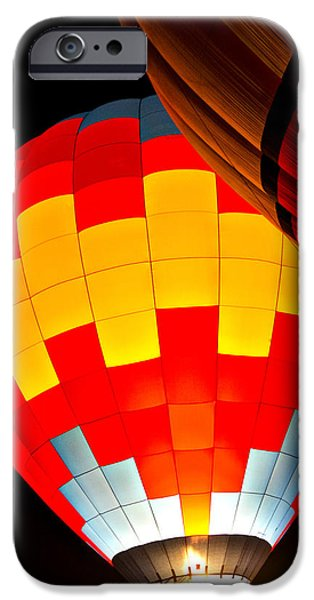 Hot Air Balloon iPhone Cases - Up Up and Away We Go  iPhone Case by Saija  Lehtonen