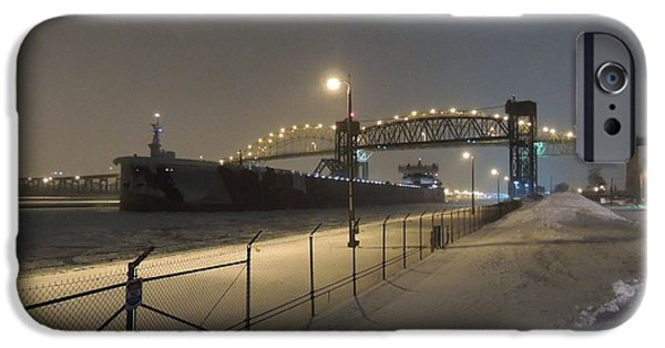 Speer iPhone Cases - Upbound To Icebound - Edgar B Speer - Soo Locks iPhone Case by Mikel Classen