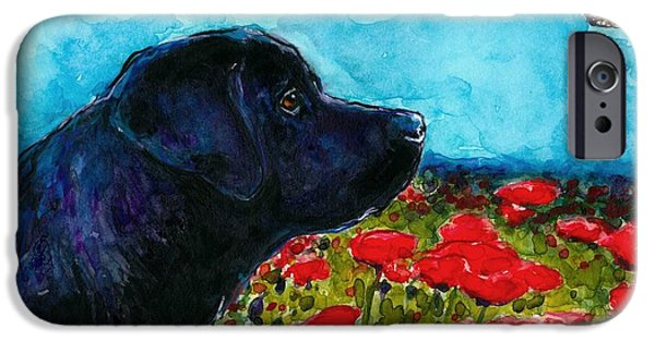 Black Dog iPhone Cases - Updraft iPhone Case by Molly Poole