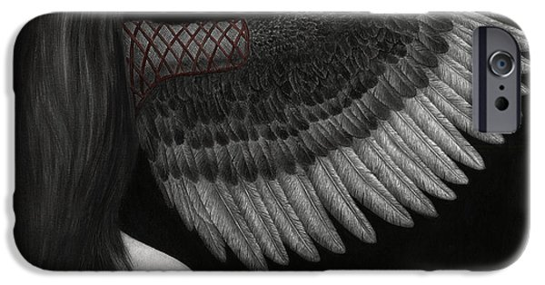Symbolism iPhone Cases - Upon Ashen Wings iPhone Case by Pat Erickson