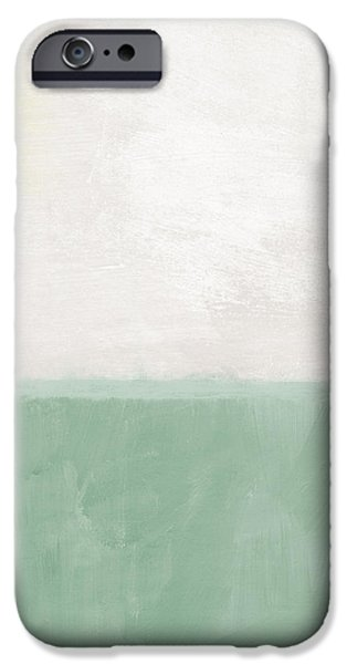 Contemporary Abstract iPhone Cases - Upon Our Sighs iPhone Case by Linda Woods