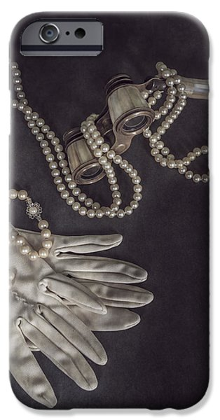 Opera Gloves iPhone Cases - Upper Class iPhone Case by Joana Kruse