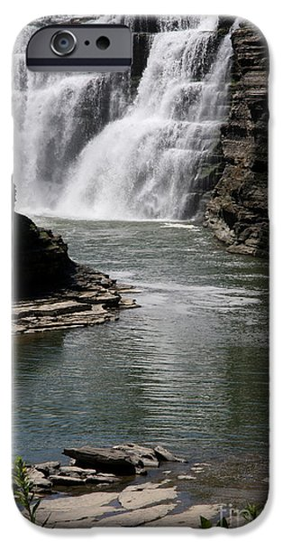 Grand Canyon iPhone Cases - Upper Falls Letchworth State Park iPhone Case by Christiane Schulze Art And Photography