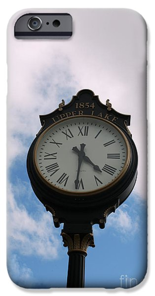 Upper Lake Clock iPhone Case by Cheryl Young