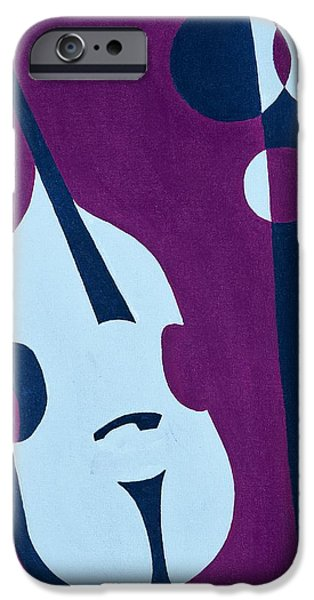 Upright Bass iPhone Cases - Upright Jazz iPhone Case by Brian Broadway
