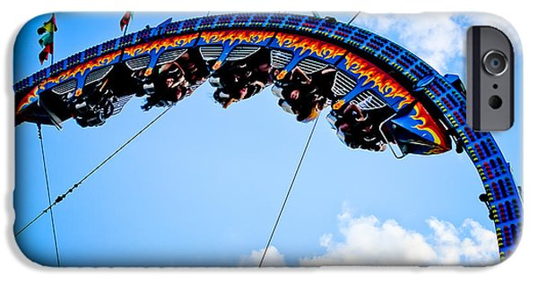 Rollercoaster Photographs iPhone Cases - Upside Down iPhone Case by Colleen Kammerer
