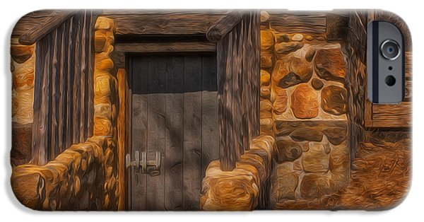 Fieldstone iPhone Cases - Upstairs Downstairs iPhone Case by Jack Zulli