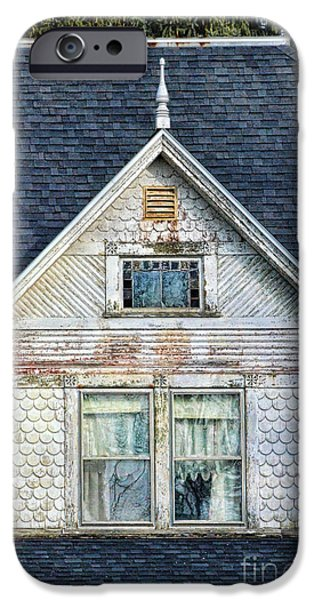 Upstairs Windows in Old House iPhone Case by Jill Battaglia
