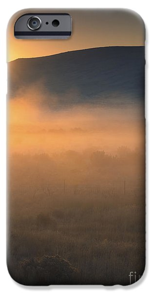 Fog Mist iPhone Cases - Uptanum Dawning iPhone Case by Mike  Dawson