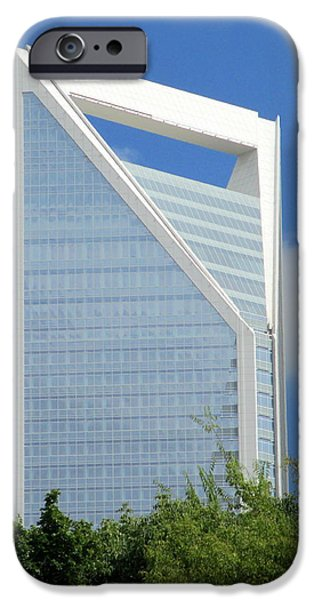 Charlotte iPhone Cases - Uptown Charlotte 2 iPhone Case by Randall Weidner