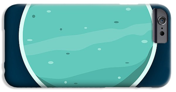 Space Themed Nursery iPhone Cases - Uranus iPhone Case by Christy Beckwith