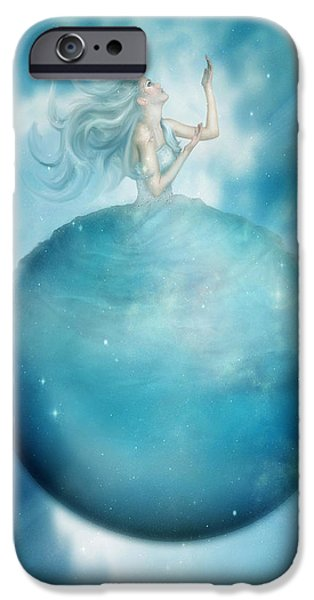 Northern Lights iPhone Cases - Uranus iPhone Case by Karen K