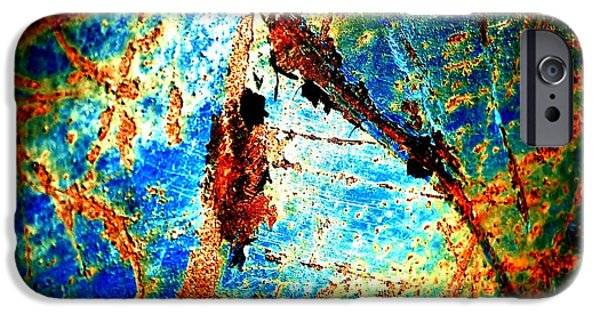 Rust iPhone Cases - Urban Abstract iPhone Case by Christiane Hellner-OBrien