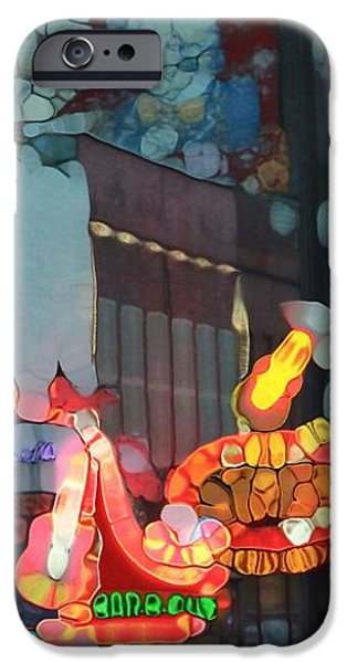Urban Abstract Nashville Neon iPhone Case by Dan Sproul