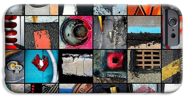 Rust iPhone Cases - Urban Abstracts Top 24 iPhone Case by Marlene Burns