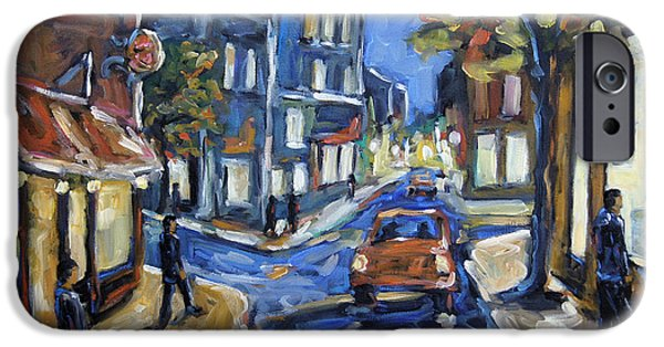 Interior Scene iPhone Cases - Urban Avenue by Prankearts iPhone Case by Richard T Pranke