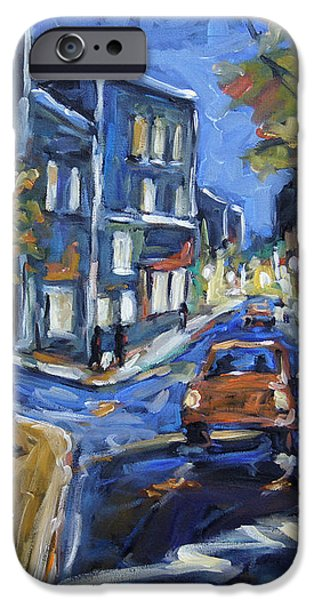 Urban Avenue by Prankearts iPhone Case by Richard T Pranke